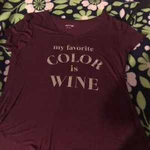 Wine is my favorite color shirt